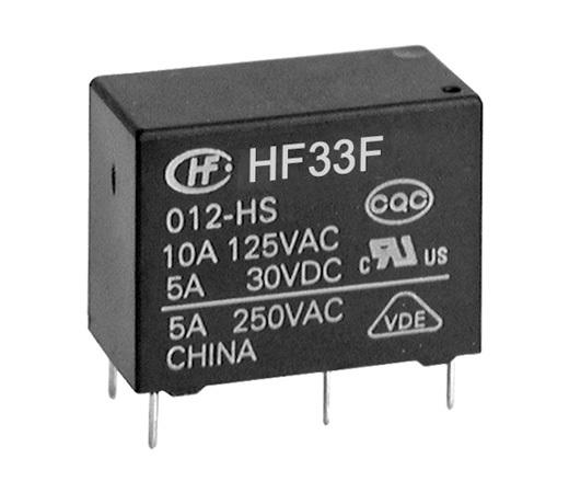 宏发HF33F-012-ZSL3继电器