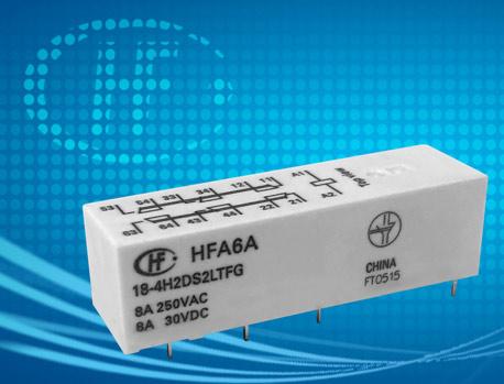 宏發HFA6A/12-4H2DS1LTFG繼電器