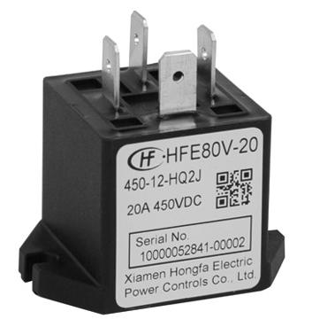 宏发HFE80V-20/450-12-HTQ2AJ继电器