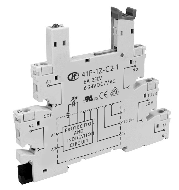 宏发41F-1Z-C2-1/2/3/4/5继电器插座
