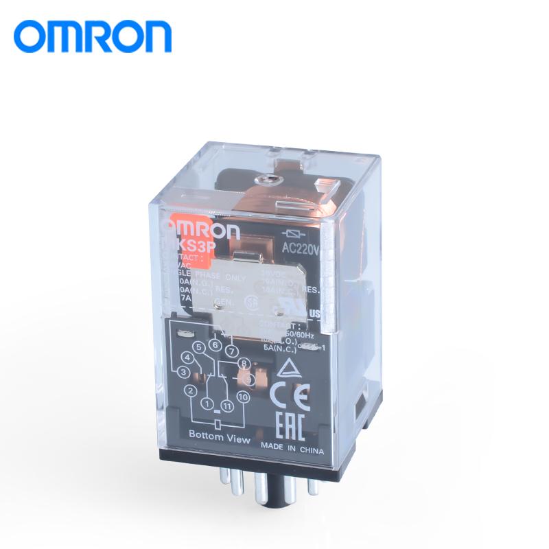 欧姆龙MKS3P AC110大功率中间继电器